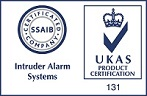 UKAS certified for Intruder Alarm Systems